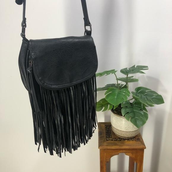 Aldo Vegan Leather Fringed Crossbody Bag